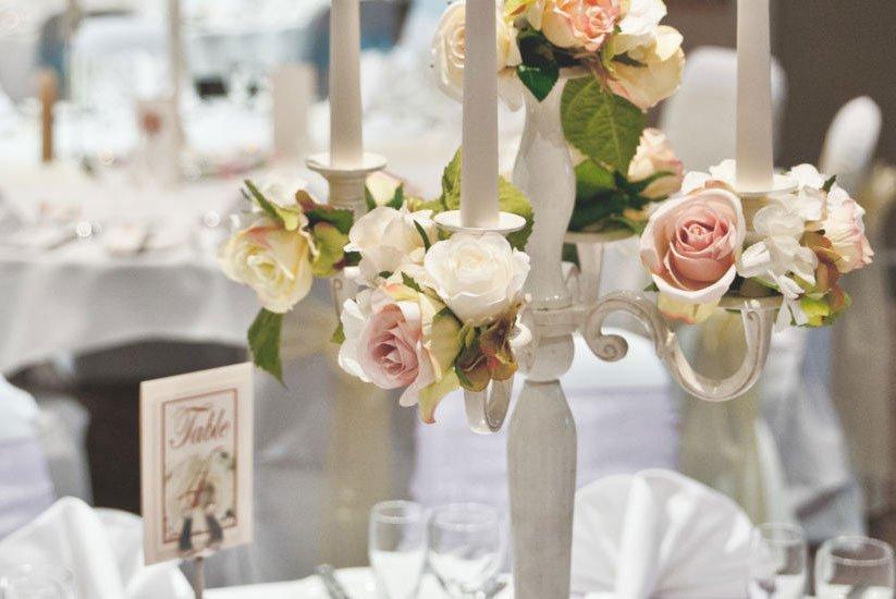 Wedding decoration on table